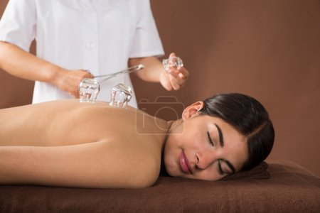 Woman Receiving Cupping Therapy