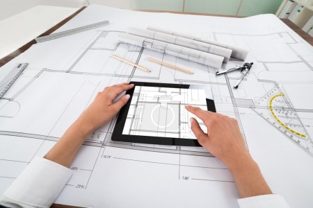 Architect With Digital Tablet