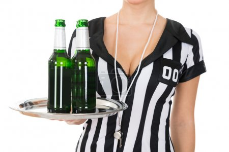 Referee Holding Drinks