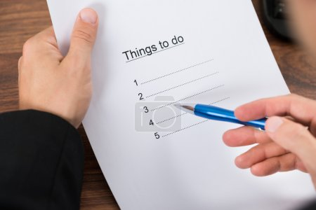Businessman Planning To Do List