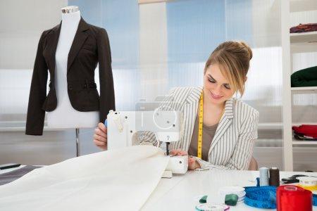 Designer Stitching On Sewing Machine