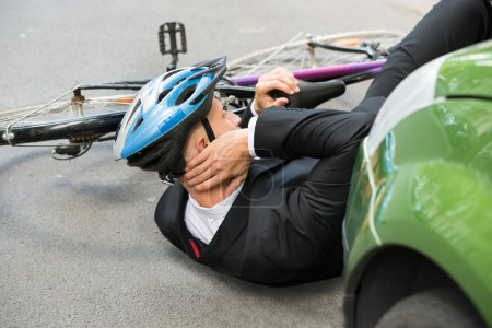 Cyclist After road Accident
