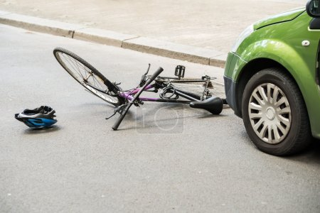 Photo for Close-up Of A Bicycle Accident On The City Street - Royalty Free Image