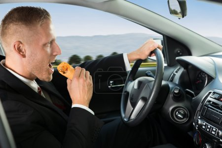 Businessman Eating Snack