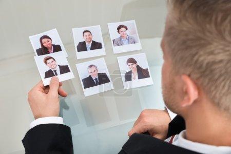 Businessman Choosing Candidate