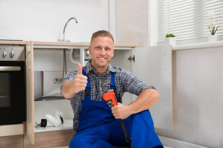 Plumber With Adjustable Wrench