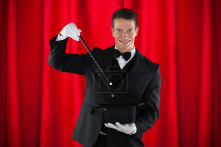 Magician Showing Magic Trick