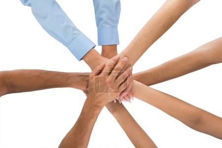 People Stacking Hands Together