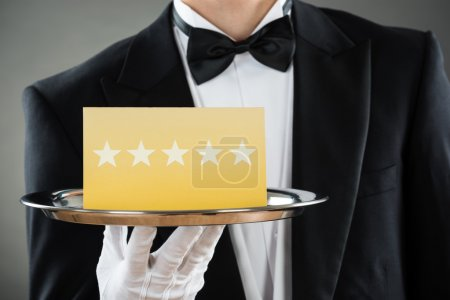 Holding Tray With Star Rating Label