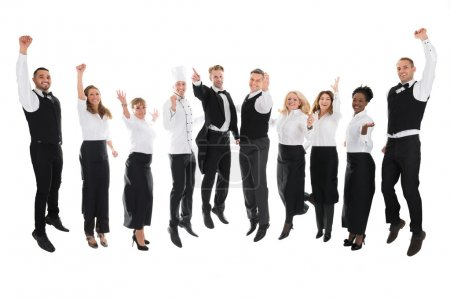 Restaurant Staff Celebrating Success