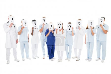 Medical Team Covering Faces