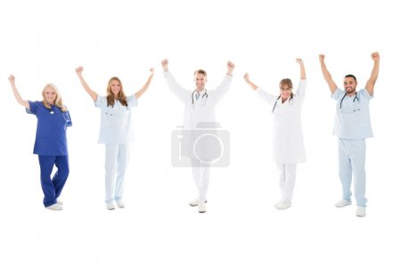 Happy Medical Team Standing