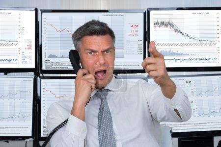 Angry Stock Trader Shouting
