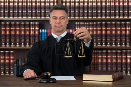 Judge Holding Justice Scale