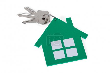 Green Paper House And Keys
