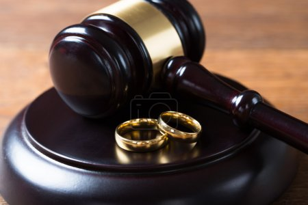 Wedding Rings On Mallet