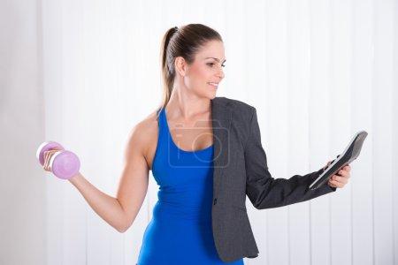 Woman doing Multitasking work