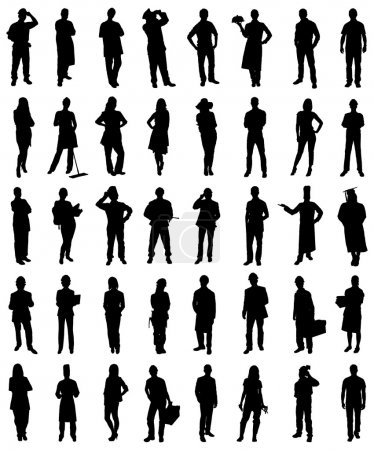 Professionals People Silhouettes