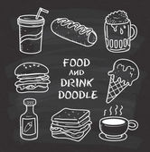 Jídlo a pití sada ikon