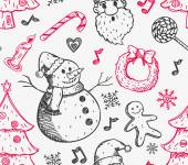 Sketchy Christmas background