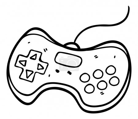 Hand drawn game pad