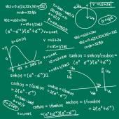 Cartoon science formulas background on chalk board Vector illustration