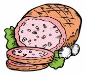 Cartoon prepared meat