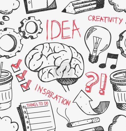 Idea doodle background
