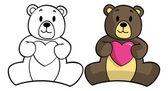 Teddy bears with hearts