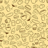 Seamless food and drink pattern