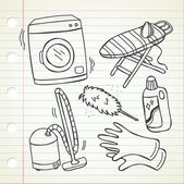 households appliances icons set