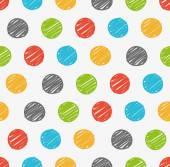Polka dots doodle seamless
