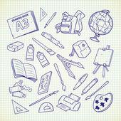 school equipment icons