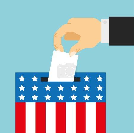 election day cartoon symbol