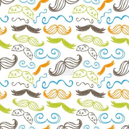 Vintage mustache pattern
