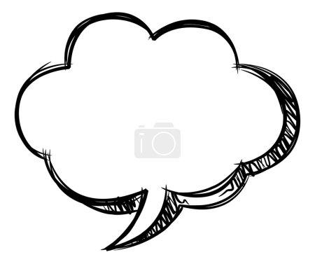 Ilustración de Discurso de burbuja superficial aislado en blanco - Imagen libre de derechos