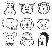 cartoon animals icons