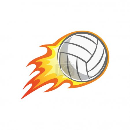 flaming volleyball ball