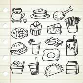 food and drink cartoon icons