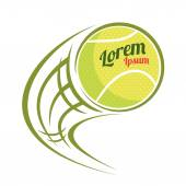 Flying tennis ball symbol vector illustration on white background