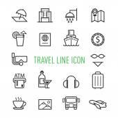 Sada cestování, turistické ikony