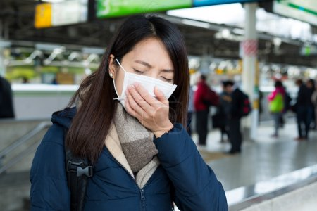 woman wearing face mask protection