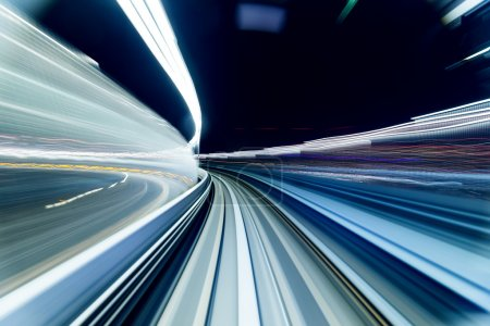 Blur tunnel abstract background