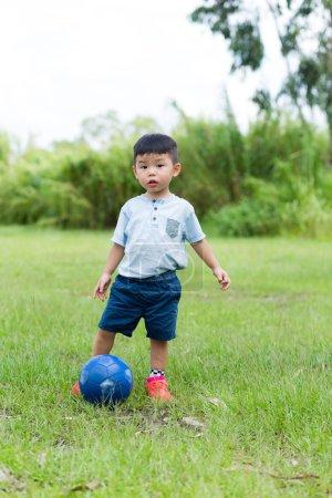 Cute Asian little boy