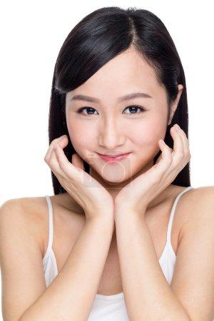 Asian beautiful woman with perfect skin