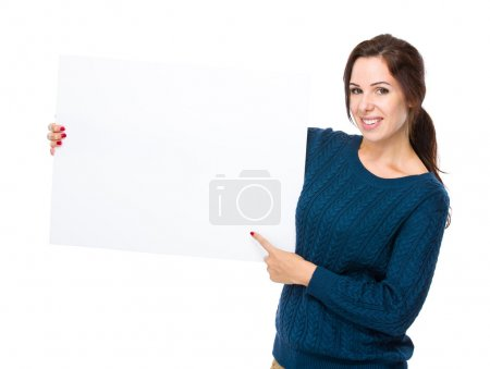 Woman hold placard