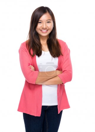 Asian woman with arms crossed...