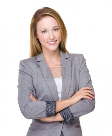 Photo for Caucasian young businesswoman with arms crossed - Royalty Free Image