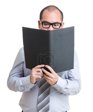 Asian businessman in eyeglasses