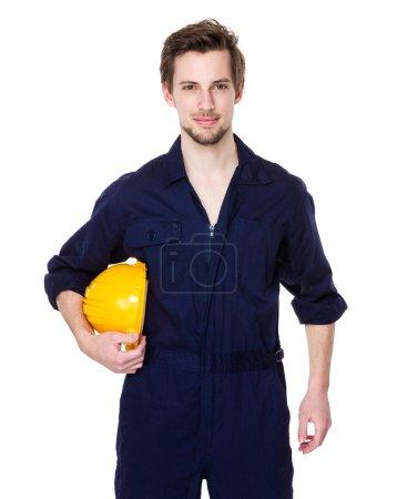 Handsome caucasian construction worker